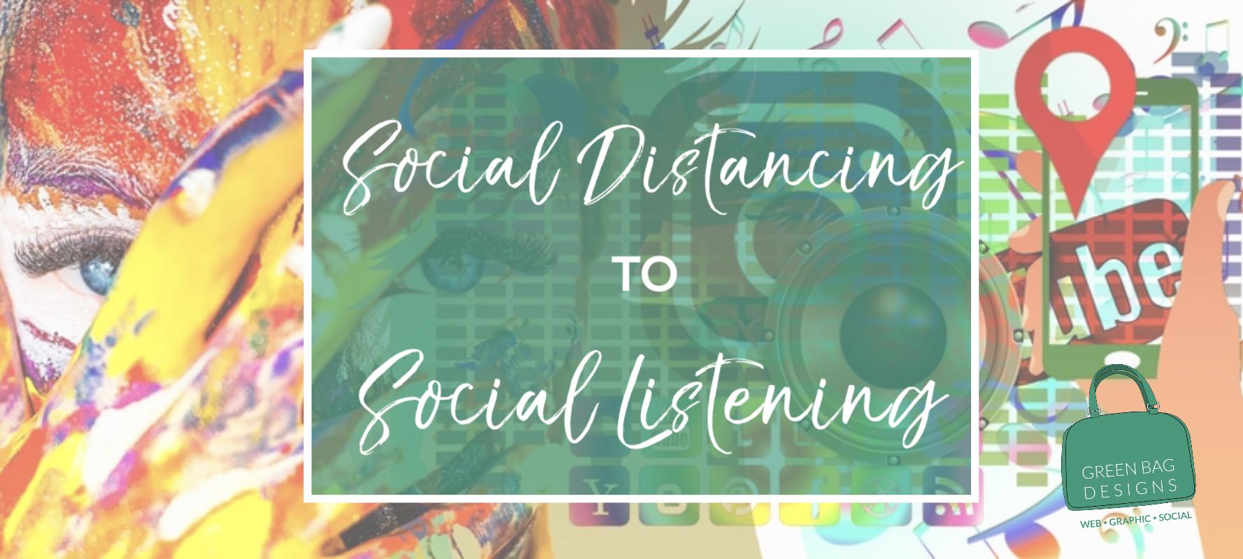 Pinterest Image for Social Distancing for Social Listening